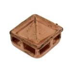 Portastrass quadrato da cucire in ferro mm 8 x 8