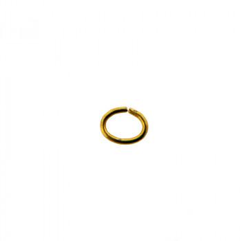 Anellino ovale aperto a filo 6 x 4 mm