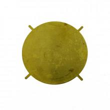 Disco in ottone con 4 griffe da 35 mm