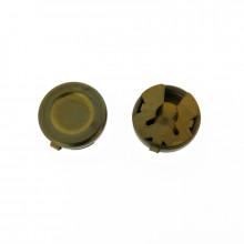 Copribottone da 15 mm in ottone