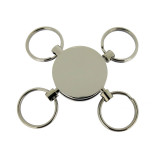 Portachiavi in ottone grezzo con 4 anelli brisè