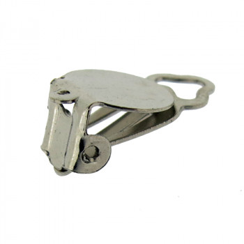 Clip in ferro con anello a disco da mm 10 nickel