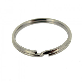 Anello brisè per portachiavi in acciaio 25 mm, interno 22 mm