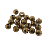 Sfera mm.6 in ottone rigata