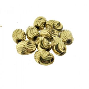 Ovalina da mm 9 x 7 con foro in ottone leggero