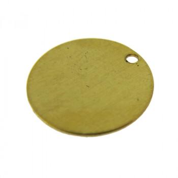 Paillette liscia in ottone diametro mm 12