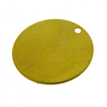Paillette liscia in ottone diametro mm 18