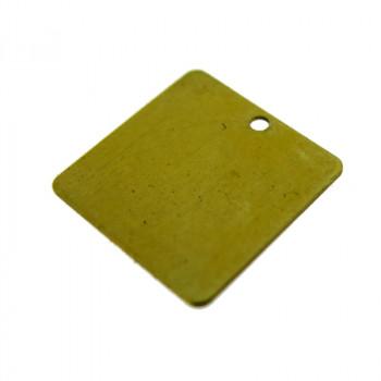 Paillette quadrata liscia in ottone mm 14x14
