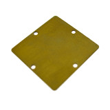 Quadrato liscio in ottone mm. 22x22