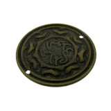 Cerchio disegnato in ottone diametro mm  20