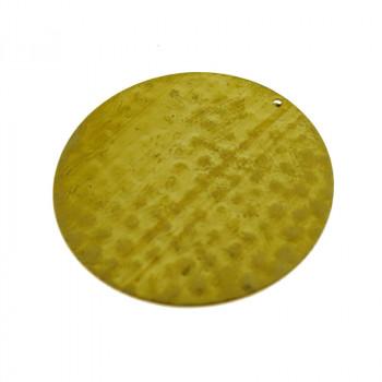 Paillette cerchio martellato in ottone diametro mm 32