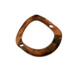 Paillette a cerchio in ferro ramato con foro mm 14