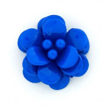 Fiore in plastica colorato mm 38