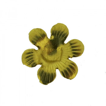 Fiore tranciato in ferro ramato diam. mm 12
