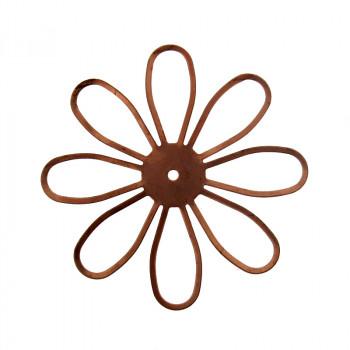 Fiore tranciato in ferro ramato diam. mm 50