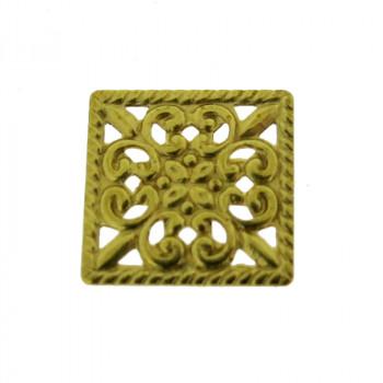 Filigrana quadrata mm 10x10 in ottone