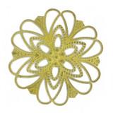 Minuteria tranciata filigranata in ottone diam. mm 95
