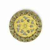 Minuteria tranciata filigranata in ottone diam. mm 25