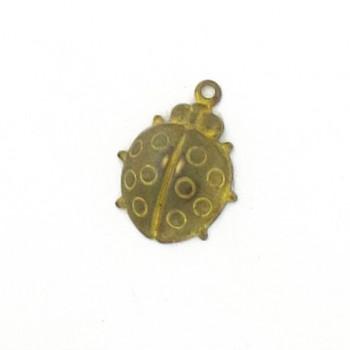 Minuteria per bigiotteria in ottone coccinella mm 18x20 c/anello
