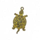 Minuteria per bigiotteria in ottone tartaruga mm 25x18 c/anello