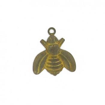 Minuteria per bigiotteria in ottone ape mm 16x18 c/anello