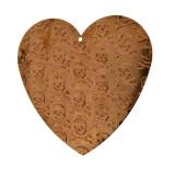 Minuteria cuore con teschi in ferro 50 x 60