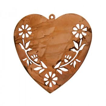 Filigrana cuore in ferro ramato 35 x 40