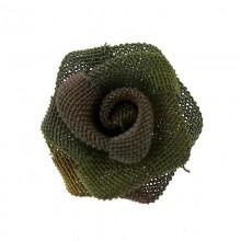 Rosa in rete di ottone da mm 12 componente bigiotteria