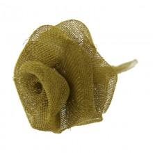 Rosa in rete di ottone da mm 18 componente bigiotteria