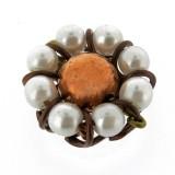 Particolare in rame con perle mm 16
