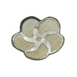 Fiore in rete di ottone mm 22 componente bigiotteria