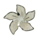 Fiore in rete di ottone mm 35 componente bigiotteria
