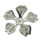 Fiore in rete di ottone mm 30 componente bigiotteria