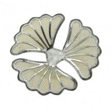 Fiore in rete di ottone mm 40 componente bigiotteria