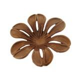 Fiore in ferro ramato mm 35 componente bigiotteria