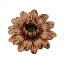Fiore in ferro ramato mm 28 componente bigiotteria