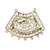 Filigrana ottone a trapezio c/anelli