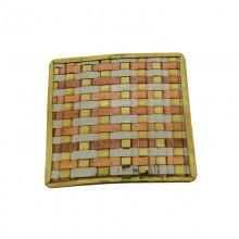 Quadrato mm 63 in metallo intrecciato