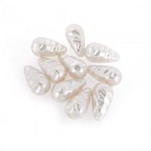 Goccia plastica barocca 12x22 c/foro perla