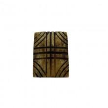 Particolare in corno quadrato cm 3x3 per bigiotteria etnica