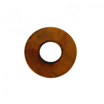Cerchio da mm.45 in corno per bigiotteria etnica