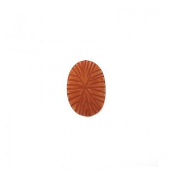 Ovale da mm 32x20 in resina rosa