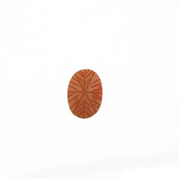 Ovale da mm 26x18 in resina rosa