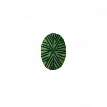 Ovale da mm 32x20 in resina verde