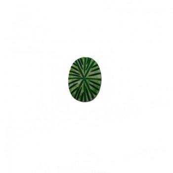 Ovale da mm 26x18 in resina verde
