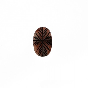 Ovale da mm 32x20 in resina marrone