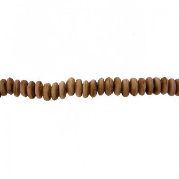 Filo in osso a pallina da mm. 7  cm. 90