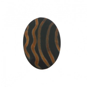 Ovale mm 76x48 in corno per bigiotteria etnica