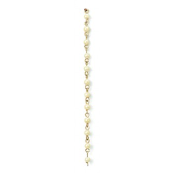 Catena con perla cultra da mm 4 su cong. in ottone
