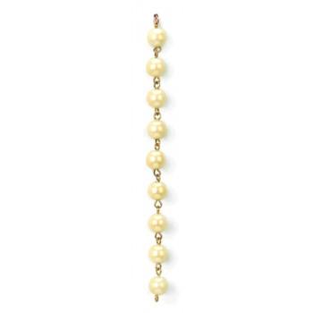 Catena con perla cultra da mm 8 su cong. in ottone